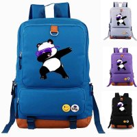 Hip Hop Panda Dabbing School bag Canvas Backpacks School Rucksack Travel Backpack Daily backpack