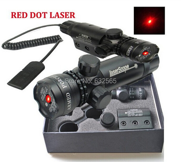 Tactical Hunting Green Red Laser Sight Scope 532nM 5nw For Pistol Rifle W/ Free Mount 2 Switches For Luneta Para Rifle