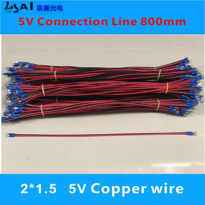 5V power supply connection of LED control card 2 1 5 800mm Pure copper wire in LED Modules from Lights Lighting