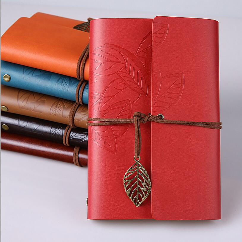 Vintage Leather Spiral Notebook Paper Journal Traveler Note Book A6 Planner Replaceable Blank Notepad Sketchbook For Drawing