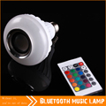New Wireless Bluetooth Speaker Bulb Light with Multi Color,Smart LED Bulb Lamp with RGB Control,Dimmable E27 Socket 110/220/240V