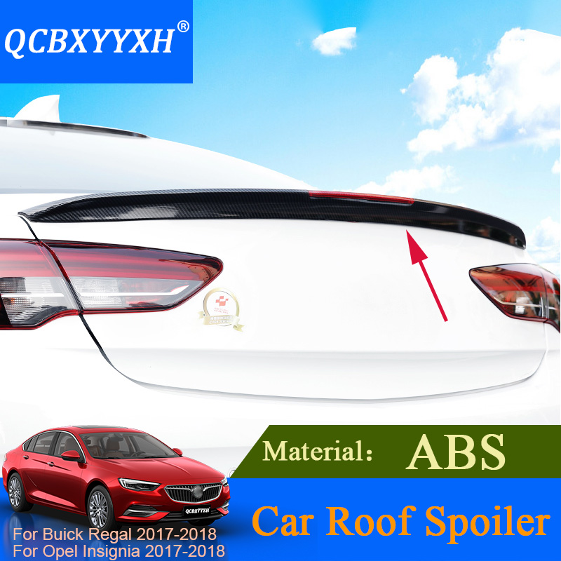 QCBXYYXH Car-styling For Buick Regal Opel Insignia 2017 2018 Sedan ABS Material Roof Spoiler Auto External Decoration 6 Colors