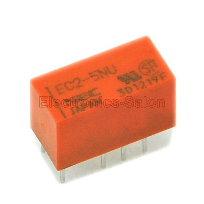( 20 Pcs/lot ) EC2-5NU DIP Signal Relay,DC 5V,Slim Type,DPDT/2 Form C