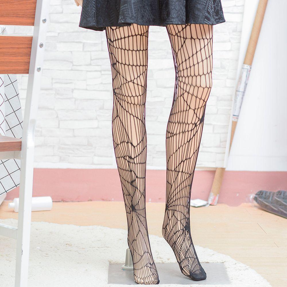 2068fc75d Halloween Women Tights Stockings Spider Web Black Sexy Fancy Dress Hold Ups  Hot-in Stockings from Underwear   Sleepwears on Aliexpress.com