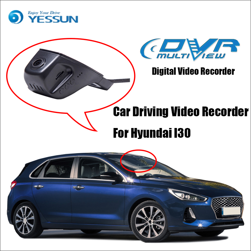 YESSUN Car Front Dash Camera CAM / DVR Driving Video Recorder -For iPhone Android APP Control Black Box Function For Hyundai I30 for hyundai santa car driving video recorder dvr mini control app wifi camera black box registrator dash cam original style