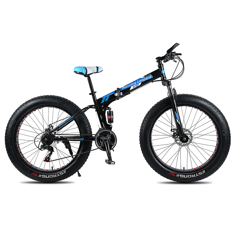 High Quality 26 Inch 21 Speed Folding Fatbike 26*40 Fat Tire Road Bike Snow Bike Fat Bike Free Shipping In Russia Cycling Road