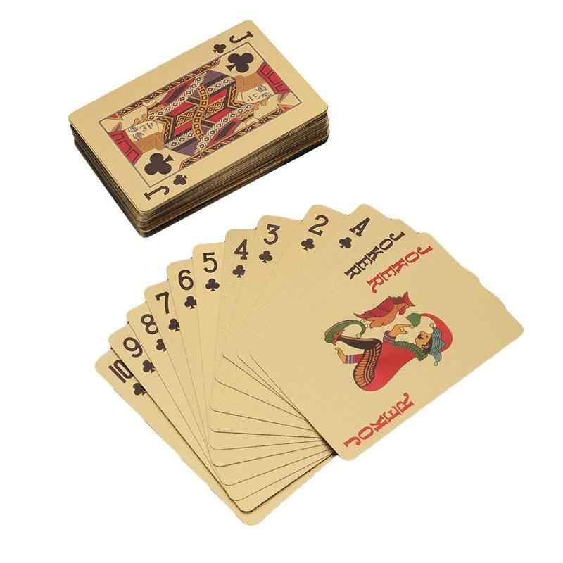Золото Фольга игральных карт покрытием бури Al Arab покер настольные игры Джокер палубе (золото)