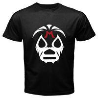 코튼 T 셔츠 패션 T 셔츠 무료 배송 새로운 레슬링 Mil 마스카라 마스크 남성 T 셔츠