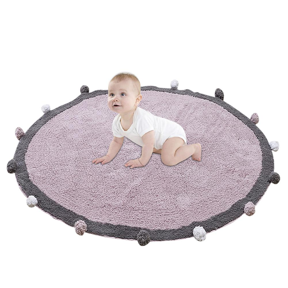 Baby Play Mat Cartoon Children's Crawl Game Mat Round Carpet Soft Comfortable Mat Round Kids Rug Children Room Decoration цена 2017