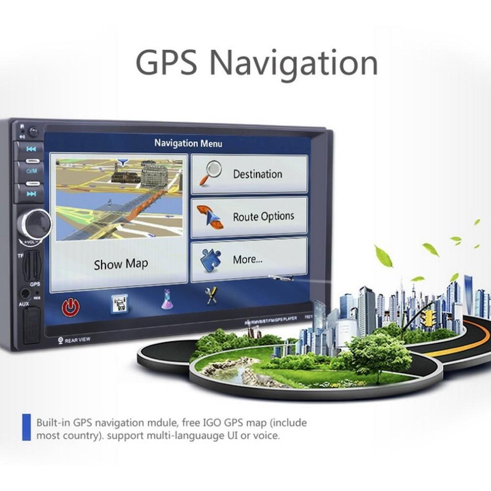 Universal 7021GM GPS Navigation 1080P HD Digital Screen Car MP5 Player Bluetooth Stereo Radio 7 Inch (not DVD )hot sale gps навигатор lexand sa5 hd