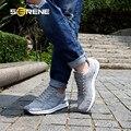 Serene 2017 homens sapatos masculinos sapatos casuais sapatos de malha leve para grande tamanho 35-47 Respirável Preto Vermelho Azul Cinza 8 Cores Lace-up 7132
