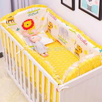 2018 6Pcs Baby Crib Bumpers Bedding Cartoon Baby Bedding Sets Bed Around Cot Sheets Cotton Thickening Beautiful Baby Safe Bumper
