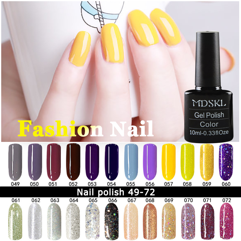 MDSKL Gel UV Vernis Semi Permanent 10ML UV Nail Gel Polish Soak Off Long Lasting LED Nail Polish Gel Lacquer 132 Colours