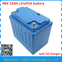 48Volt LiFePO4 battery 48v 10ah Free customs fee 16S 3P battery pack use 3.2V 3300mah 26650 cells with 58.4V 2A Charger