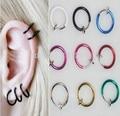 FD736 Fashion Fine Clip on Ball Hoop Body Nose Lip Ear Ring Piercing  Punk ~2PCs