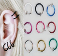 FD736 Multa de Moda Clip on Ball Hoop Corpo Nose Lip Ear Piercing Punk ~ 2 PCs