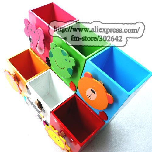 Aliexpresscom Buy FREE SHIPPING Pcs Wooden Pen Holder Pencil - Childrens desk accessories