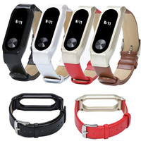 HL New Fashion Replacement Luxury Genuine Leather Band Strap Bracelet For Xiaomi Mi Band 2 Smartband