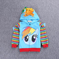 2017 New fashion jacket Children's Coat My pony Girls kids Coat hoodies girls Cotton Jacket children clothing baby girl outwear