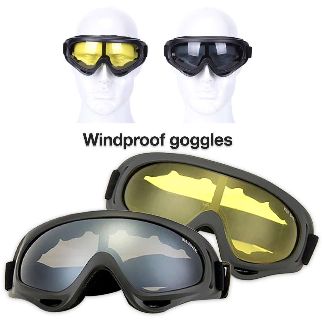 2019 Airsoft Wind Dust Tactical Goggle Glasses Outdoor Sports Cycling Unisex Eyeglasses Military Army Protected Durable Eyewear
