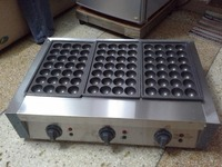 FREE SHIPPING COST electric 3 plate Takoyaki cooker machine