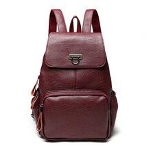Женские Натуральная кожа рюкзак роскошный мягкий твердые большой емкости школьная сумка женские туристические рюкзаки SAC DOS Mochila Новинка 2017 года