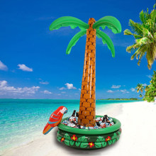 Inflatable Ice Bucket Hawaii Series 180cm Coconut Palm Tree Ice Drinks Buffet Whiskey Beer Cube Sandbeach Party Supplie inflable(China)