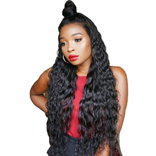 Full Ends 360 Lace Frontal Human Hair Wigs For Black Woman With Baby Hair Loose Wave Pre Plucked 180% Density Wig You May Remy