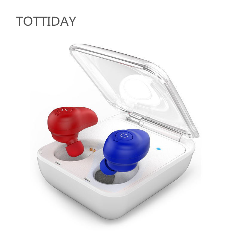 TOTTIDAY Bluetooth Earphon Wireless TWS Headset Twins Sports Earphones Earbuds with MIC Hands free Earbud for Mobile phones