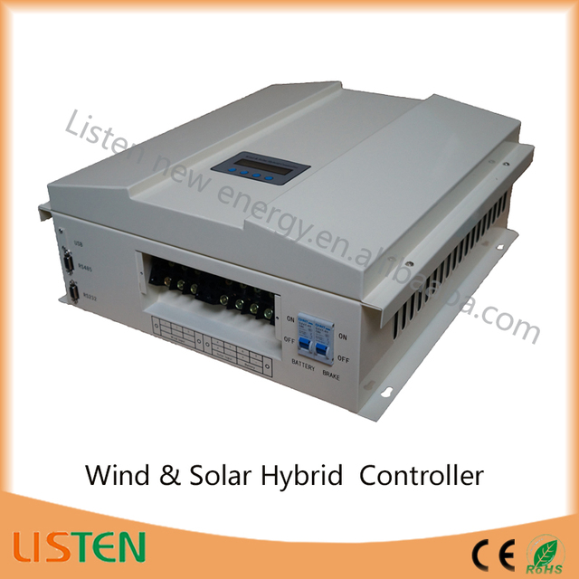 US $450 0 |360VDC high voltage wind turbine 48V system 2KW wind 0 6kw solar  Boost Wind Solar Hybrid Charge Controller-in Solar Controllers from Home