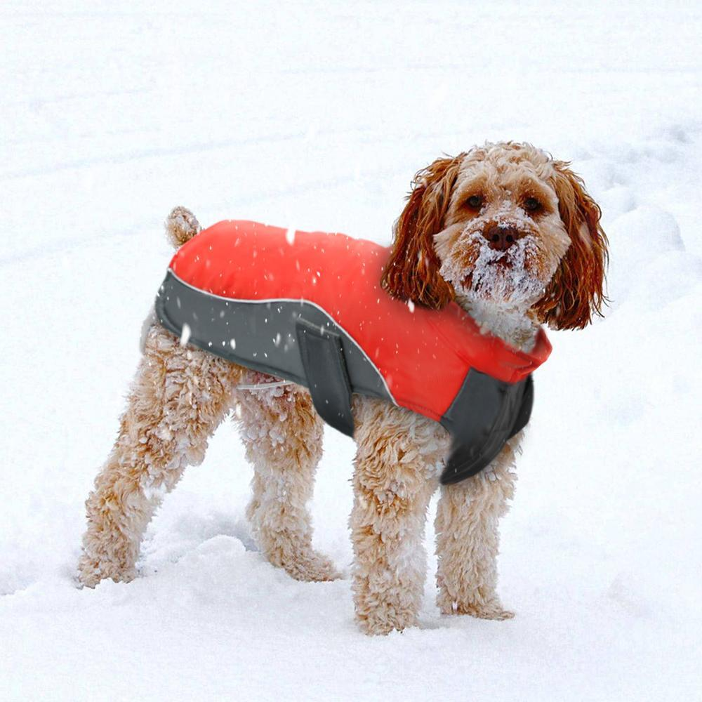 Waterproof Dog Puppy Jacket Vest Winter Warm Pet Coat ...