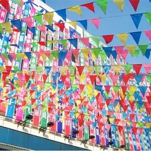 Bunting opening ceremony string flag / hanging triangle bunting birthday party Christmas Furnishing wholesale