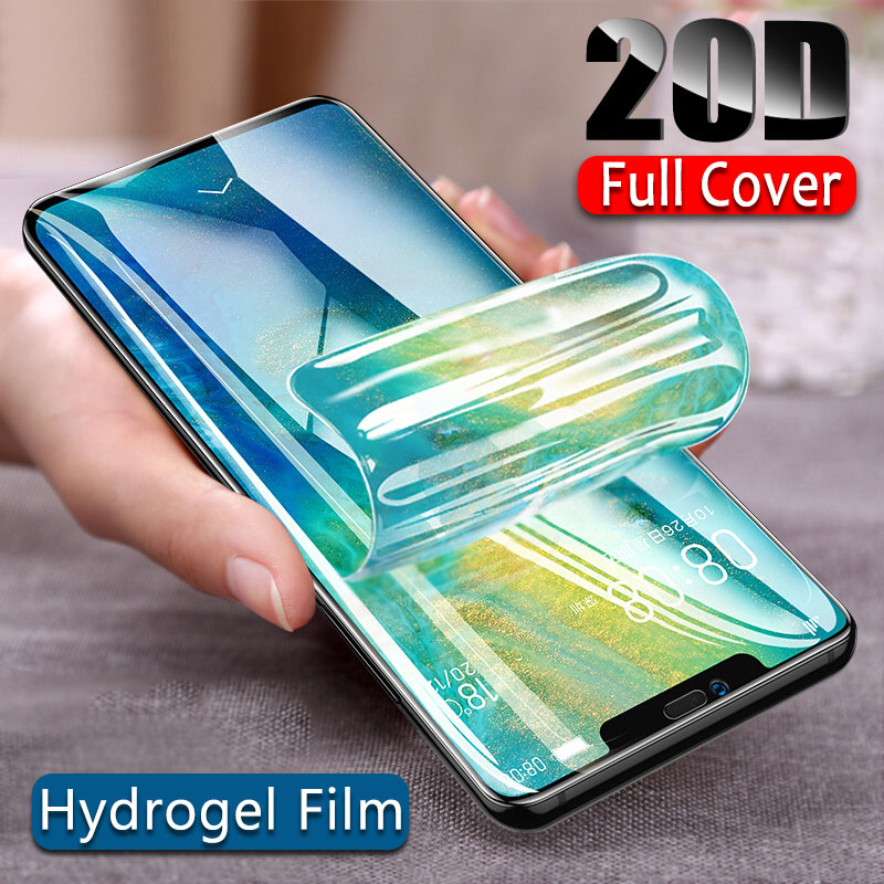 20D Hydrogel Protective Film For Huawei P20 P10 Pro Mate 20 10 Lite Screen Protector Film For P Smart 2019 Nova 3 3i Not Glass