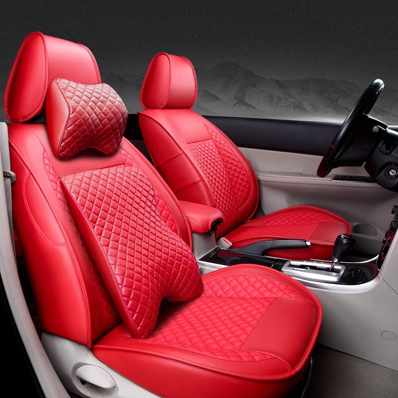 Housses de siège de voiture en cuir spécial (avant + arrière) pour - Accessoires intérieurs de voiture - Photo 2