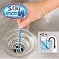 Frete grátis 12 pcs/row Encanamento banheira descontaminação vara COMO VISTO NA TV 2016 Sani Varas haste de limpeza de esgotos