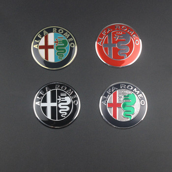 1pcs 5.6cm 50mm black color Alfa Romeo GT CAR Tyre Wheel Center Hub Cap Sticker Emblem Badge Decal Fit For Free shipping image
