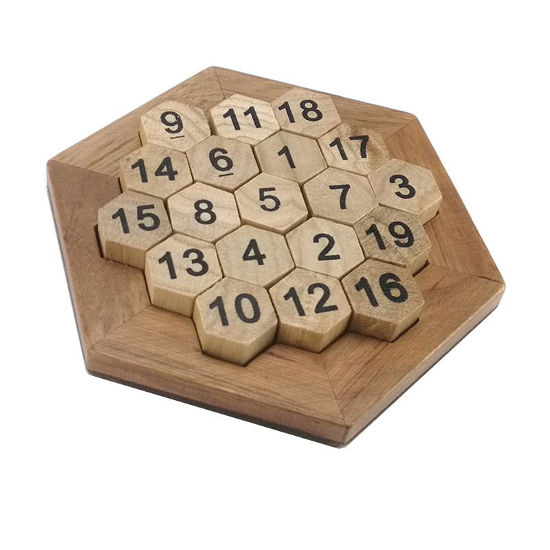 Brain Game Funny Geometric Shape Number Puzzles Children Wooden Number Board Math Game Early Educational Learning Wood Toys Gift