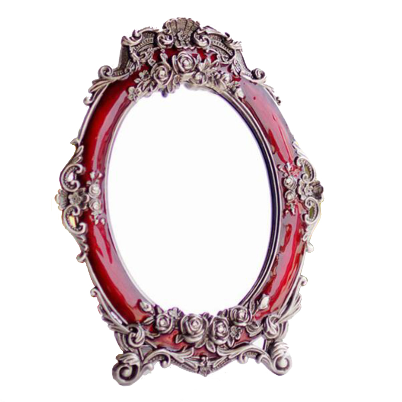 2017 High quality hot sales household Marriage mirror red bride red European makeup mirror is the princess's vanity mirror
