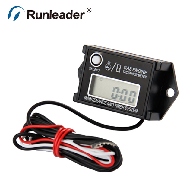 Waterproof Digital Inductive Rpm Meter Hour Tachometer For Motorcycle Jet Ski Atv Clean Machinery Lawn