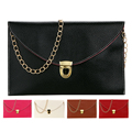 2017 New Women Messenger Bag Simple Litchi Lock Chain Shoulder Crossbody Bag Small square package Women Bags