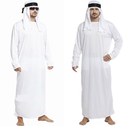 eccd5cbef9 2019 Middle East Arab Prince King Clothes Dubai Emirates Robes Halloween  Cosplay Costumes for Man Islamic Muslim abaya 3003