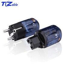 IEC Power Plug EU Plug Audio Connector Male Female Hifi Fever Audio Video Adapter Speaker Connectors Brass Ac Power Cord Plugs