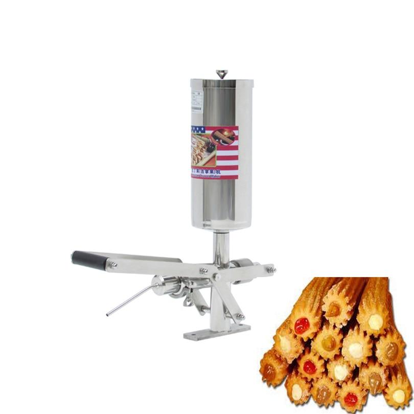 1pc Commercial 5L Stainless Steel Latin Fruit Jishou Keda Fruit Cake Machine Puff Filling Machine Filling Machine Cream Machine