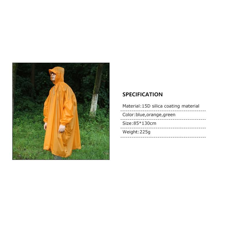 Green Campeggio Zaino Leggero Di blue Viaggio Della Outdoor Sacchetto Per Escursione orange Arrampicata Copertura Acqua Pioggia Poncho resistente Impermeabile 6g5wxqa