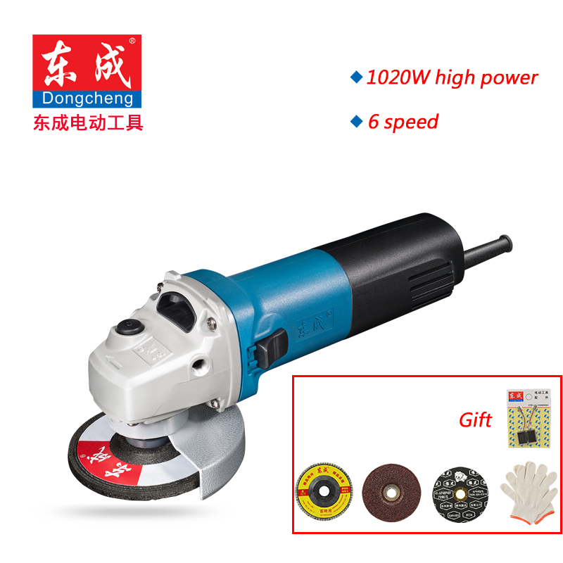 цена на High Quality 100mm Variable 6 Speed Angle Grinder 1020W Disc Grinder 6 Speed Disc Sander