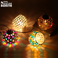 Small Size European retro lamps Nightclubs Cafe Bar Disco Party Mosaic Glass Pendant light