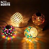Small Size European retro lamps Nightclubs Cafe Bar Disco Party Mosaic Glass Pendant light