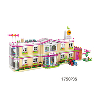 Upgraded My Good Friends City Girls Clubs Happy Teaching Building Block Student Figures Bike Sightseeing Car Moc Brick Toy