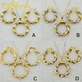 Etíope Ethlyn Nueva llegada doble collar pendientes sets18k chapados en oro Redondo color Dubai Africana/joyería para las mujeres de Eritrea