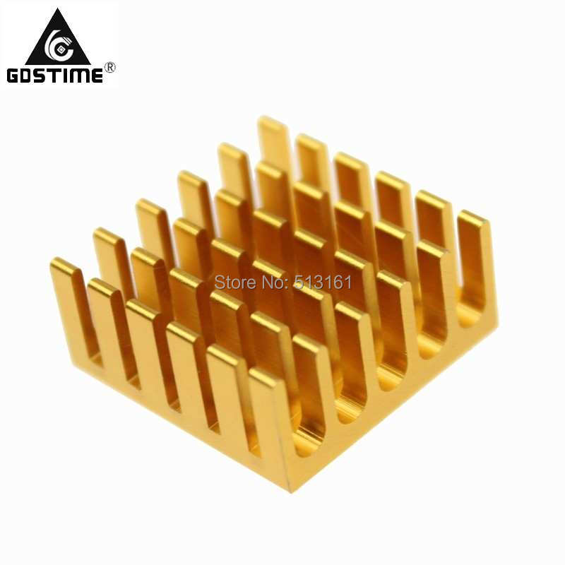 50pcs Gdstime 22x22x10mm Computer VGA PC CPU Radiatorwith Thermal Tape Cooling Aluminum Heat Sink in Fans Cooling from Computer Office